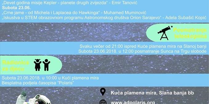 Dani astronomije u Tuzli  20.-24.06.2018.